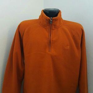 The North face men swetshirts orange size L